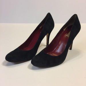 Max Studio black suede heels woman's size 7.5